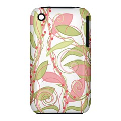 Pink and ocher ivy 2 Apple iPhone 3G/3GS Hardshell Case (PC+Silicone)