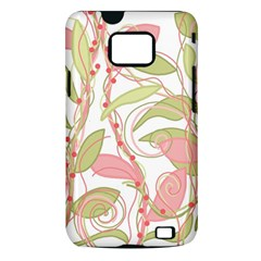 Pink and ocher ivy 2 Samsung Galaxy S II i9100 Hardshell Case (PC+Silicone)