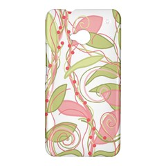 Pink and ocher ivy 2 HTC One M7 Hardshell Case