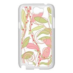 Pink and ocher ivy 2 Samsung Galaxy Note 2 Case (White)