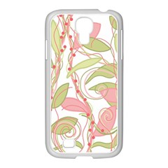 Pink and ocher ivy 2 Samsung GALAXY S4 I9500/ I9505 Case (White)