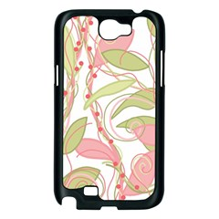 Pink and ocher ivy 2 Samsung Galaxy Note 2 Case (Black)