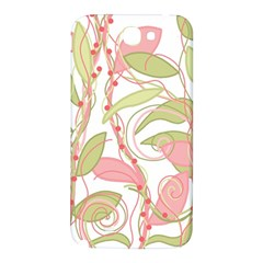 Pink and ocher ivy 2 Samsung Note 2 N7100 Hardshell Back Case