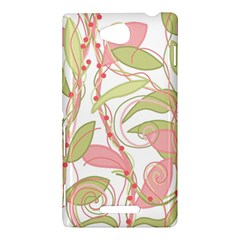 Pink and ocher ivy 2 Sony Xperia C (S39H)