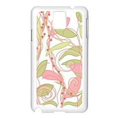 Pink and ocher ivy 2 Samsung Galaxy Note 3 N9005 Case (White)