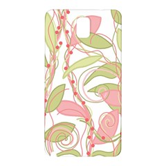 Pink and ocher ivy 2 Samsung Galaxy Note 3 N9005 Hardshell Back Case