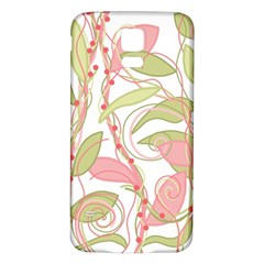 Pink and ocher ivy 2 Samsung Galaxy S5 Back Case (White)