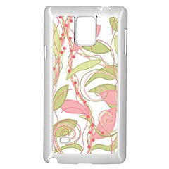Pink and ocher ivy 2 Samsung Galaxy Note 4 Case (White)