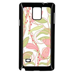 Pink and ocher ivy 2 Samsung Galaxy Note 4 Case (Black)