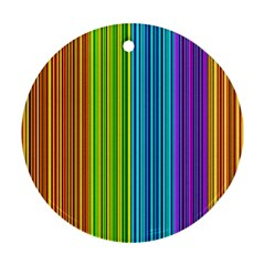 Colorful lines Ornament (Round)