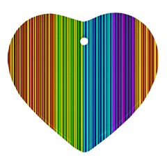 Colorful lines Ornament (Heart)