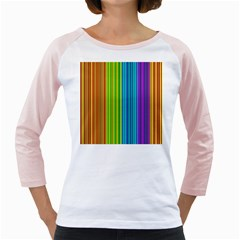 Colorful lines Girly Raglans