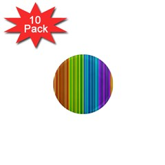 Colorful lines 1  Mini Magnet (10 pack)