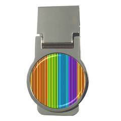 Colorful lines Money Clips (Round)