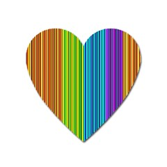 Colorful lines Heart Magnet