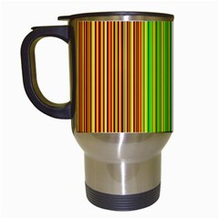Colorful lines Travel Mugs (White)