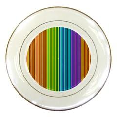 Colorful lines Porcelain Plates