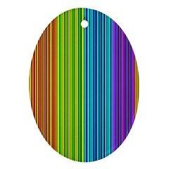 Colorful lines Oval Ornament (Two Sides)