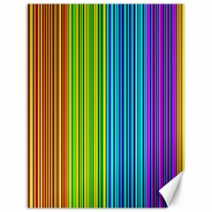 Colorful lines Canvas 12  x 16