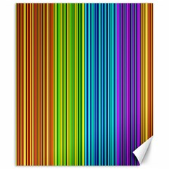 Colorful lines Canvas 20  x 24