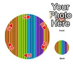 Colorful lines Playing Cards 54 (Round)  Front - Heart10