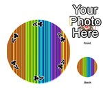 Colorful lines Playing Cards 54 (Round)  Front - ClubA