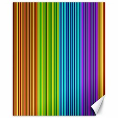 Colorful lines Canvas 11  x 14