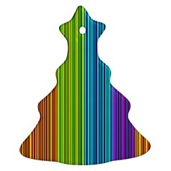 Colorful lines Christmas Tree Ornament (2 Sides)