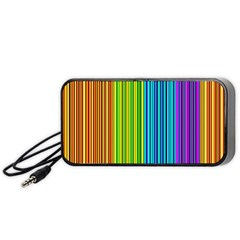 Colorful lines Portable Speaker (Black)