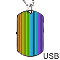 Colorful lines Dog Tag USB Flash (One Side)