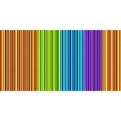 Colorful lines YOU ARE INVITED 3D Greeting Card (8x4)
