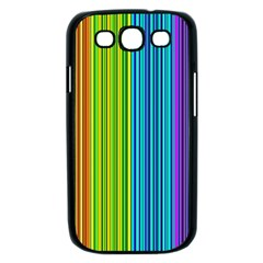 Colorful lines Samsung Galaxy S III Case (Black)