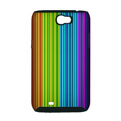 Colorful lines Samsung Galaxy Note 2 Hardshell Case (PC+Silicone)