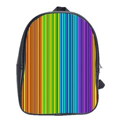Colorful lines School Bags (XL)