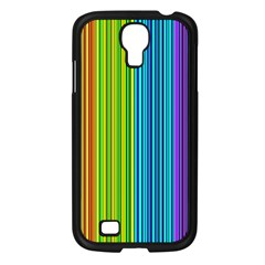 Colorful lines Samsung Galaxy S4 I9500/ I9505 Case (Black)