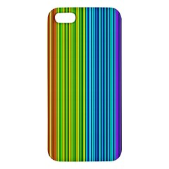 Colorful lines iPhone 5S/ SE Premium Hardshell Case