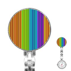 Colorful lines Stainless Steel Nurses Watch