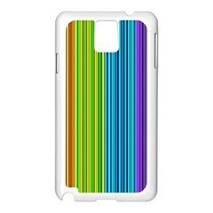 Colorful lines Samsung Galaxy Note 3 N9005 Case (White)