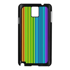 Colorful lines Samsung Galaxy Note 3 N9005 Case (Black)