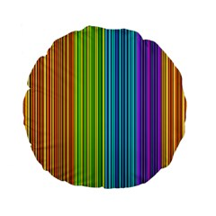 Colorful lines Standard 15  Premium Flano Round Cushions