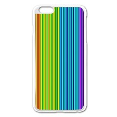 Colorful lines Apple iPhone 6 Plus/6S Plus Enamel White Case
