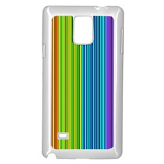 Colorful lines Samsung Galaxy Note 4 Case (White)