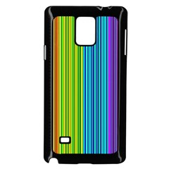 Colorful lines Samsung Galaxy Note 4 Case (Black)