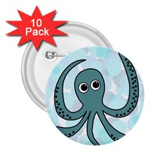 Octopus 2.25  Buttons (10 pack)