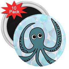 Octopus 3  Magnets (10 pack)