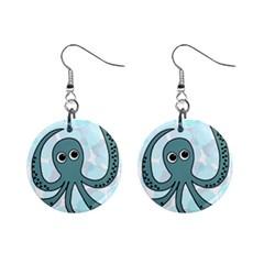 Octopus Mini Button Earrings