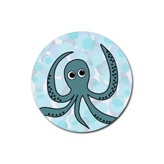 Octopus Rubber Round Coaster (4 pack)