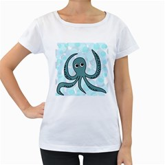 Octopus Women s Loose-Fit T-Shirt (White)