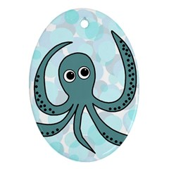 Octopus Oval Ornament (Two Sides)