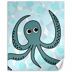 Octopus Canvas 16  x 20